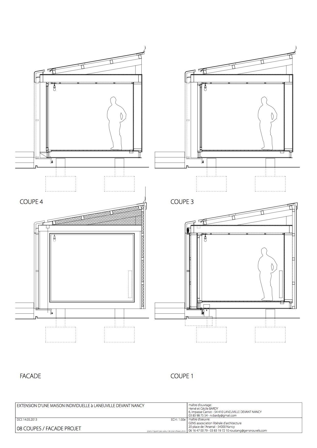 Plan Coupe Maison Cool Le Corbusier Maisons Jaoul France