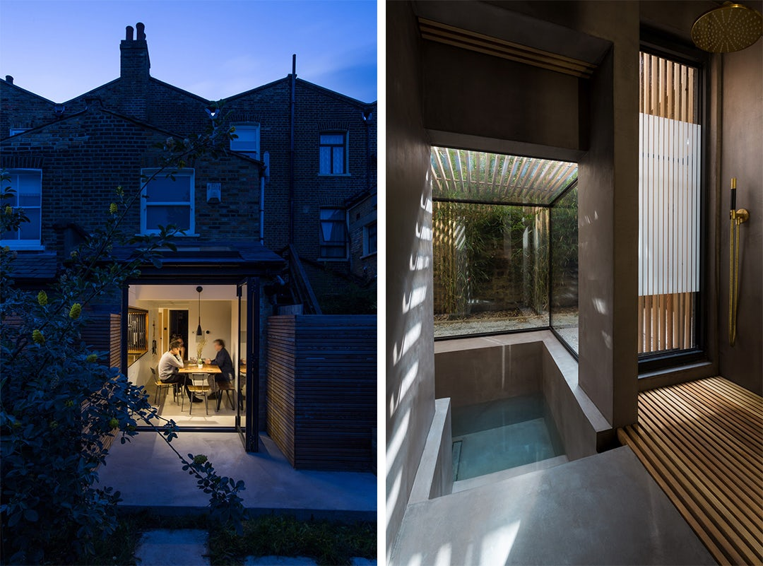 This Stunning London Renovation Features a Sunken Bath That Extends Outdoors