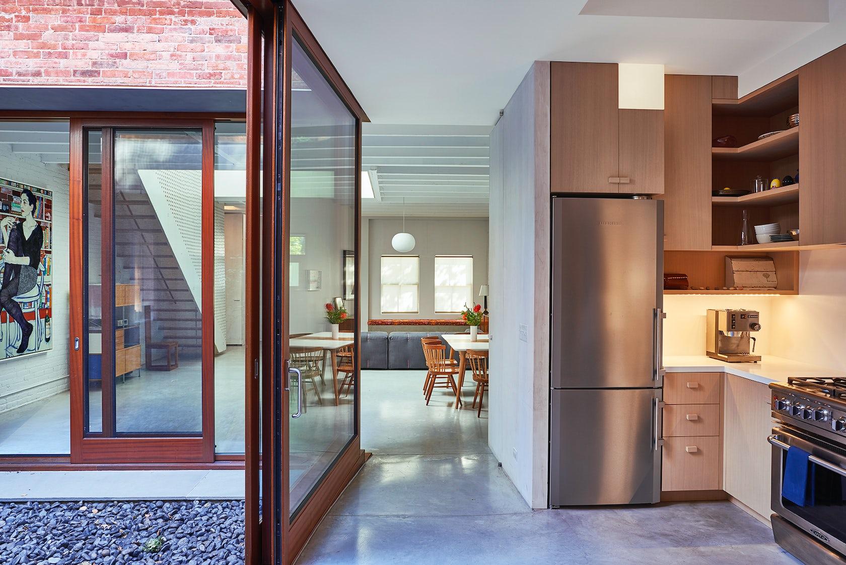 Clinton hill courtyard house architizer - Residential interior design jobs ...
