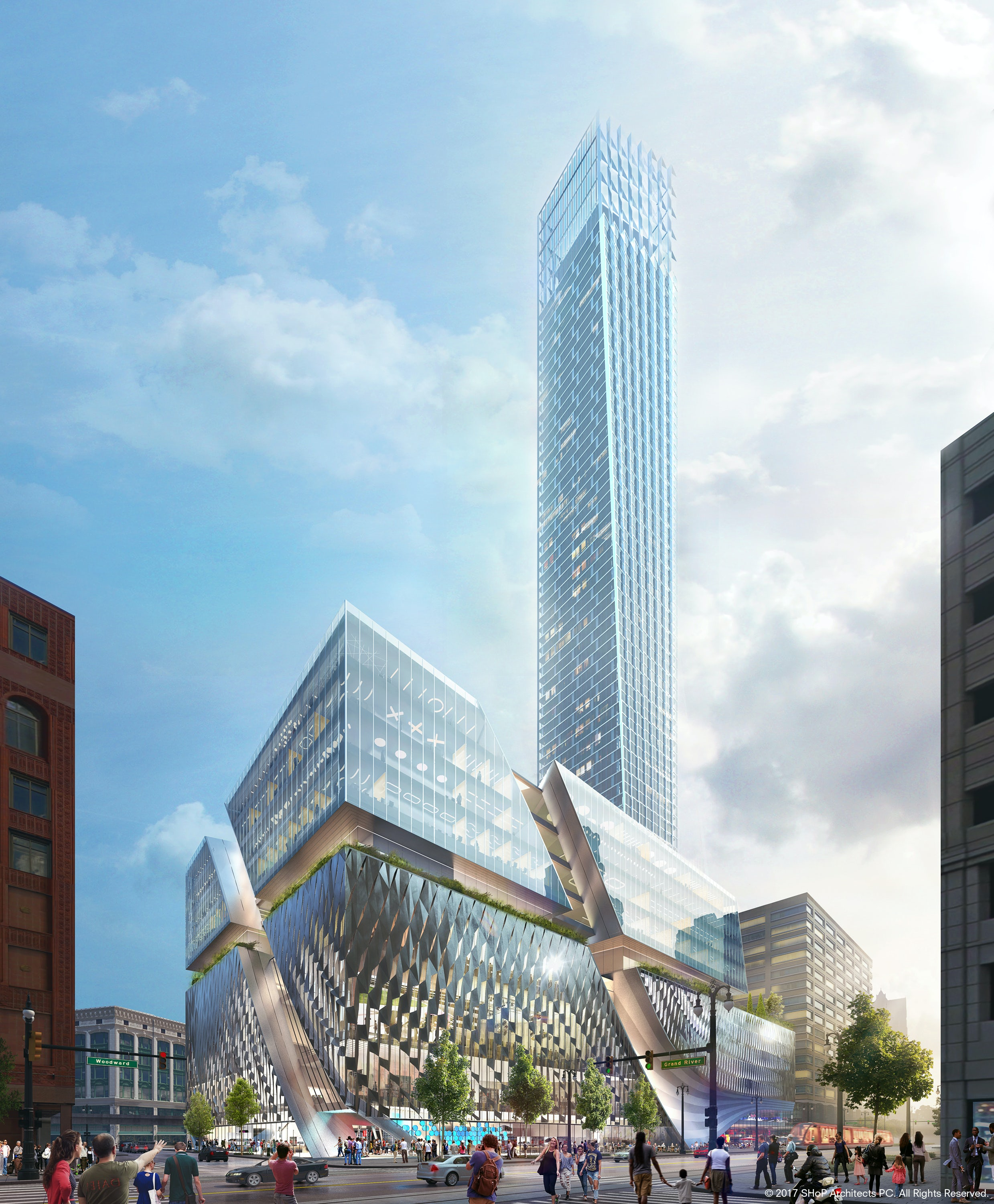 Constructing a Comeback: SHoP Unveils Ambitious Plans for the Tallest Tower in Detroit