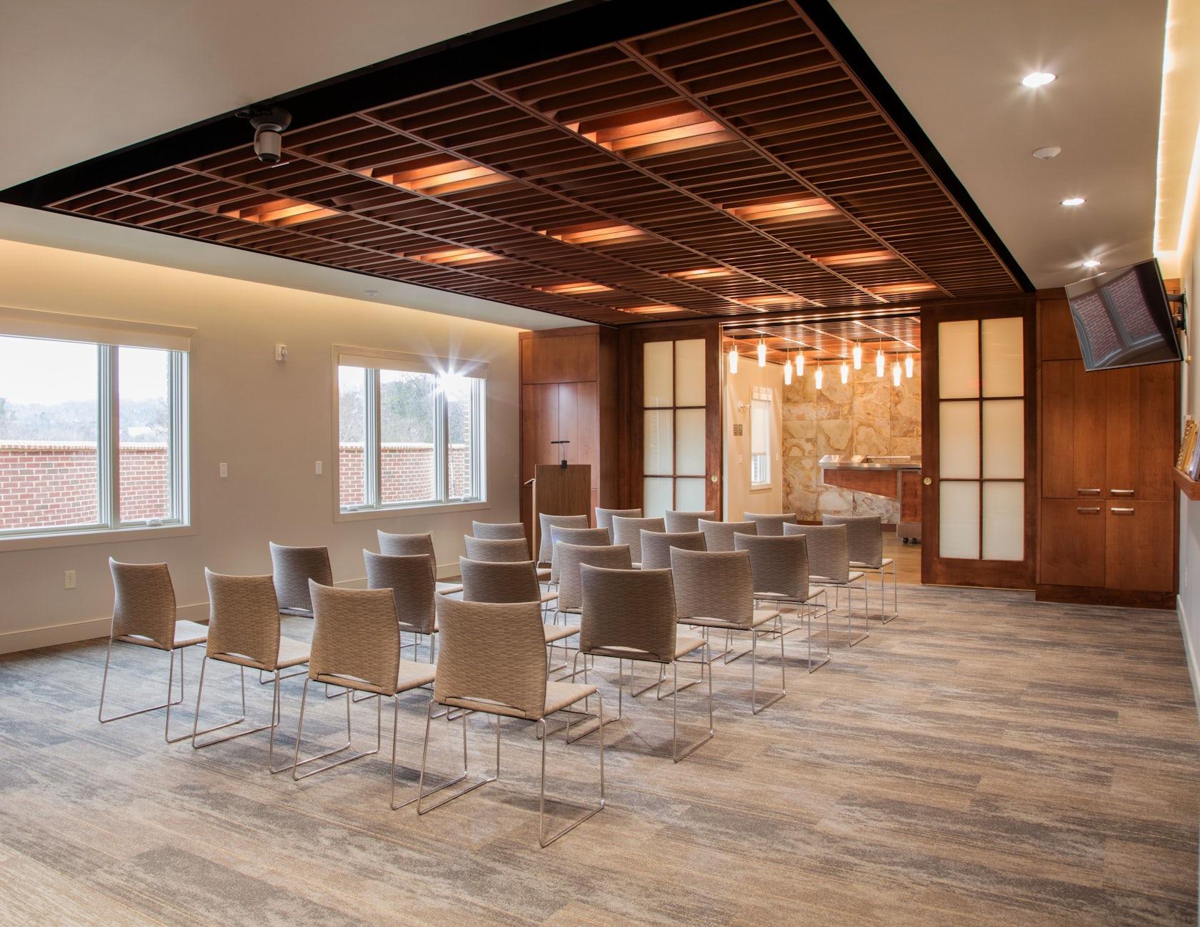 Circle design studio architizer - Modern funeral home interior design ...