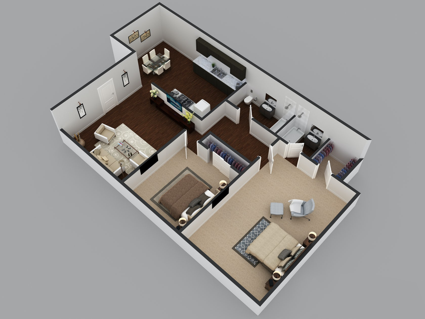3d residential floor site plan design architizer for Modern site plan