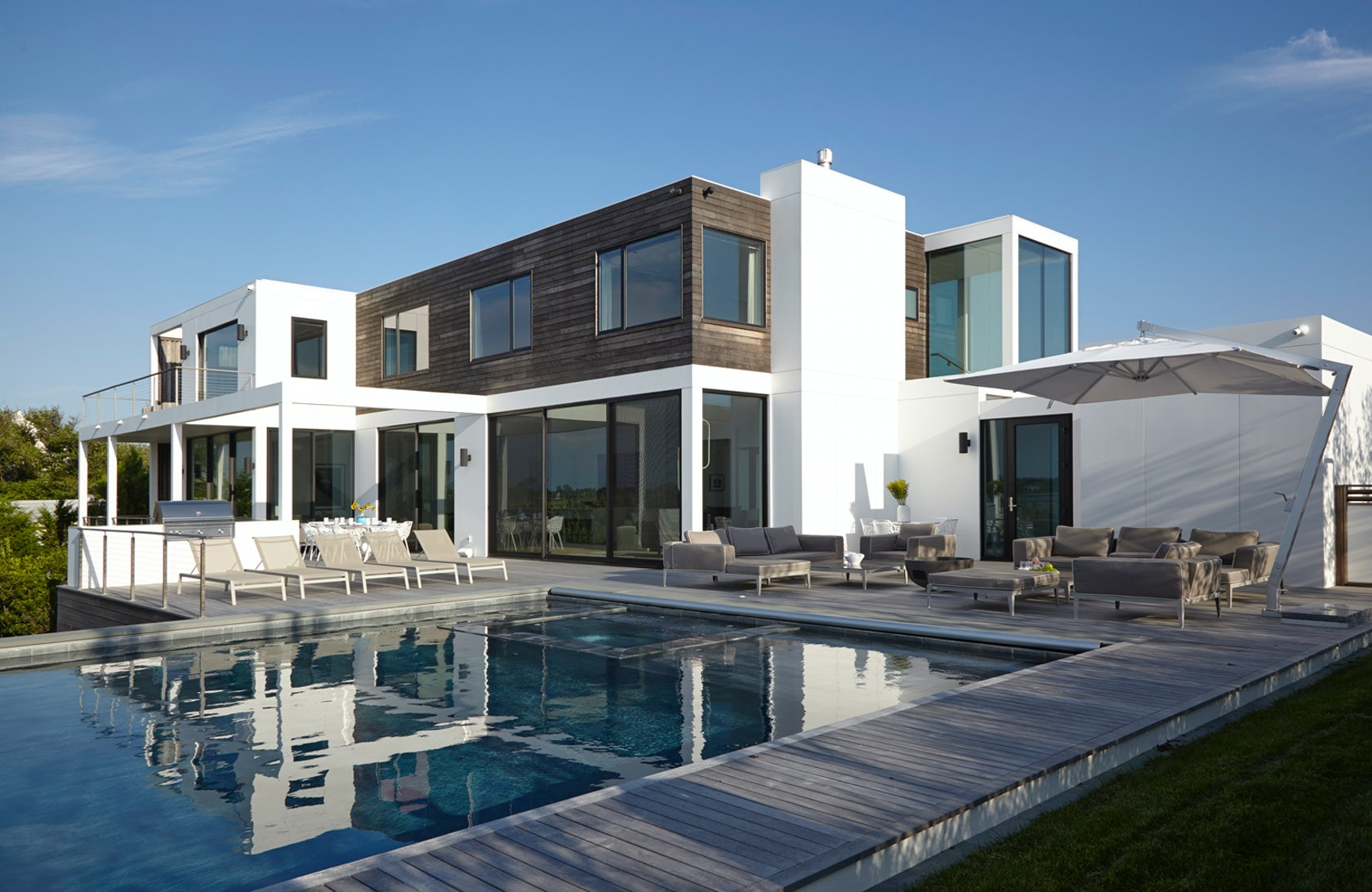 Hamptons modern on the bay architizer - Residence secondaire austin patterson disston ...