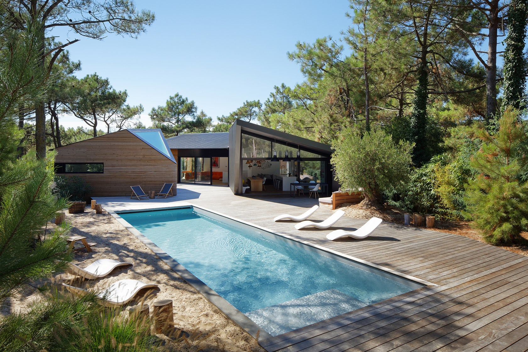 Holiday House With Swimming Pool In Cap Ferret France Architizer