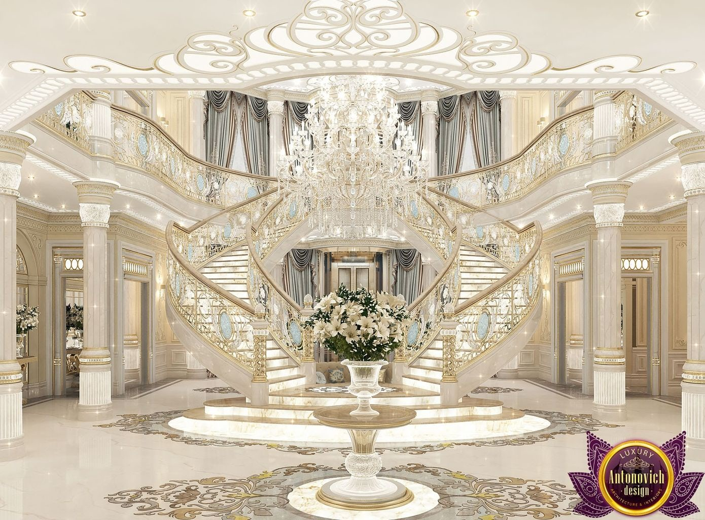 Palace interiors from luxury antonovich design on architizer