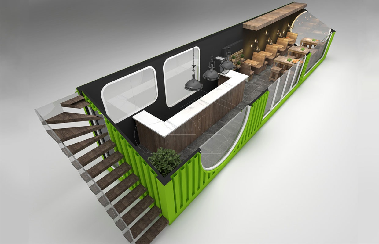 Cafe Container Design By Katy Smith Architizer