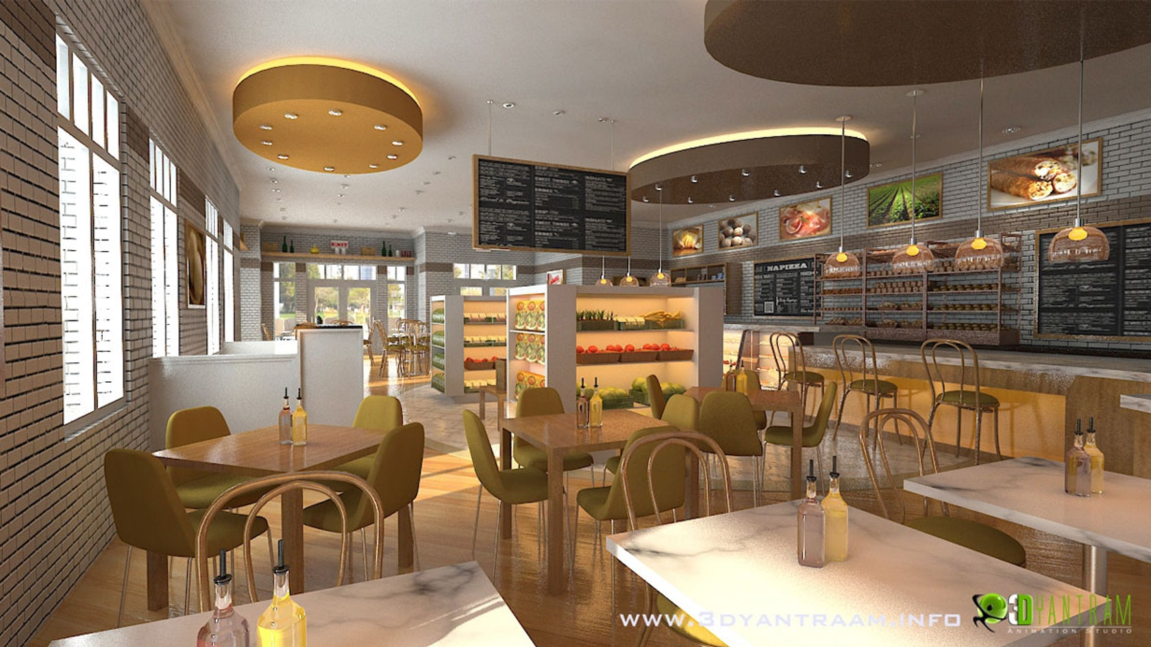 Interesting 3d cgi design for food court architizer - Living room cafe menu philadelphia ...