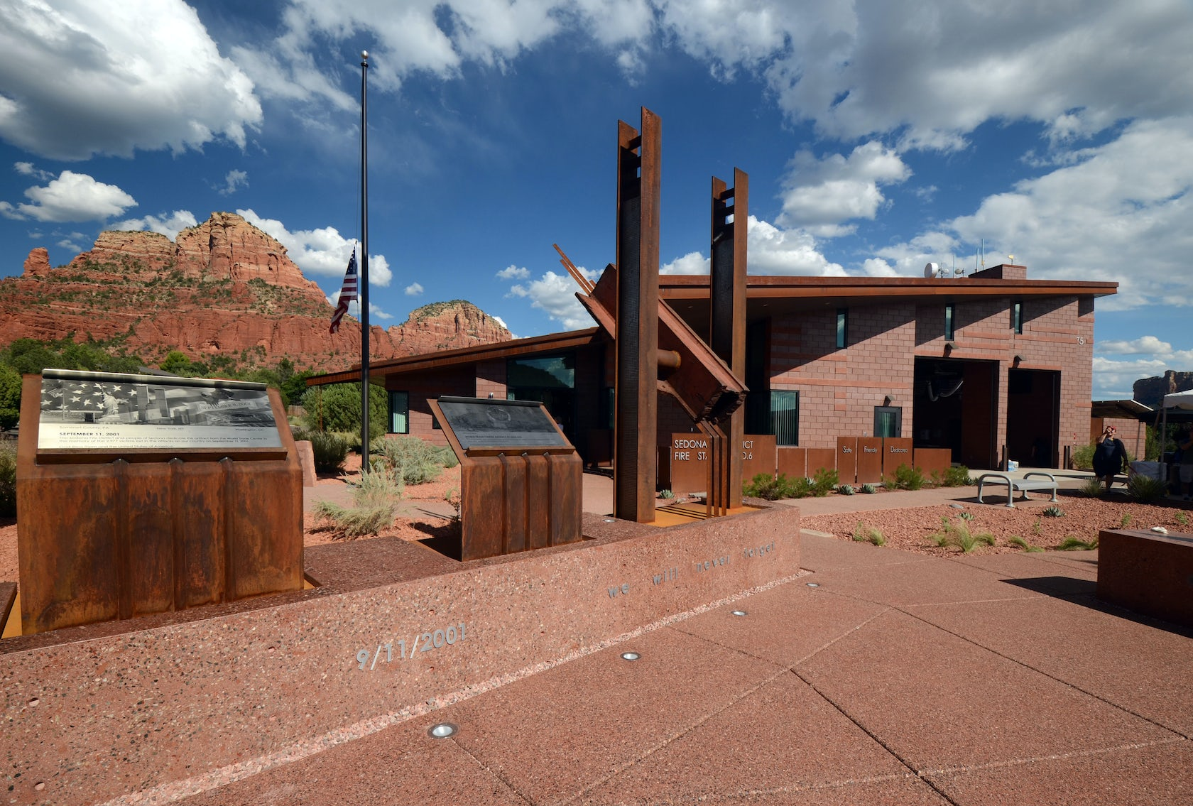 Sedona station 6 911 memorial architizer for Sedona architects
