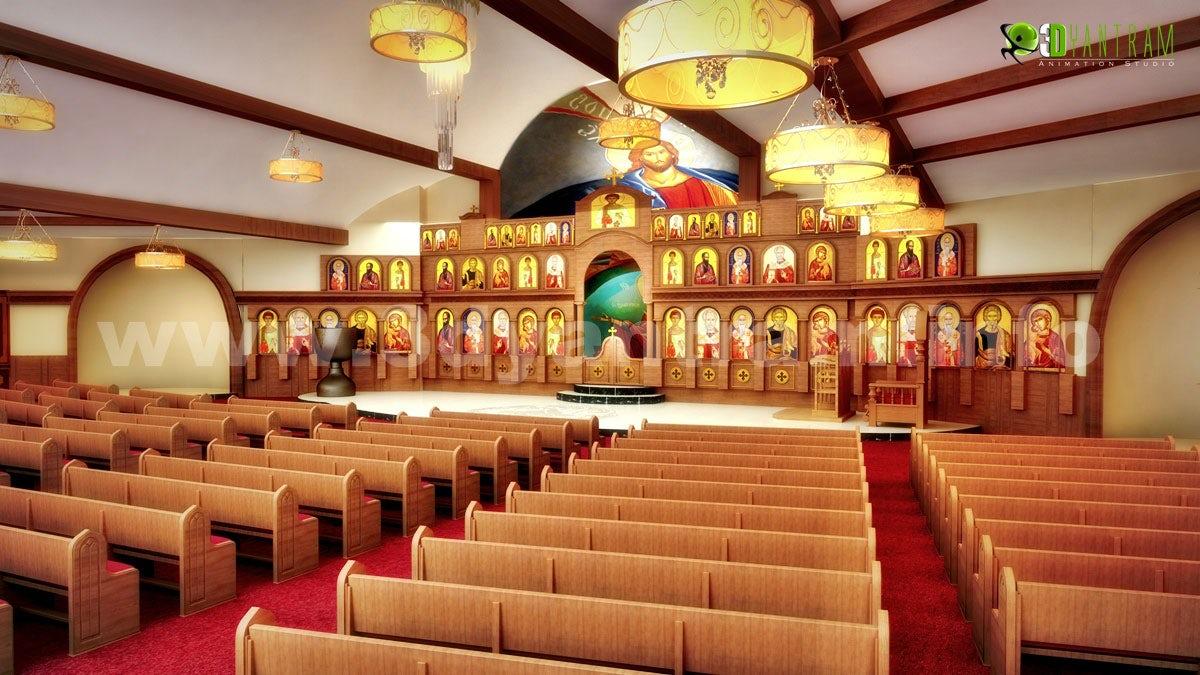 Magnificent 3D Church Auditorium Design View - Architizer