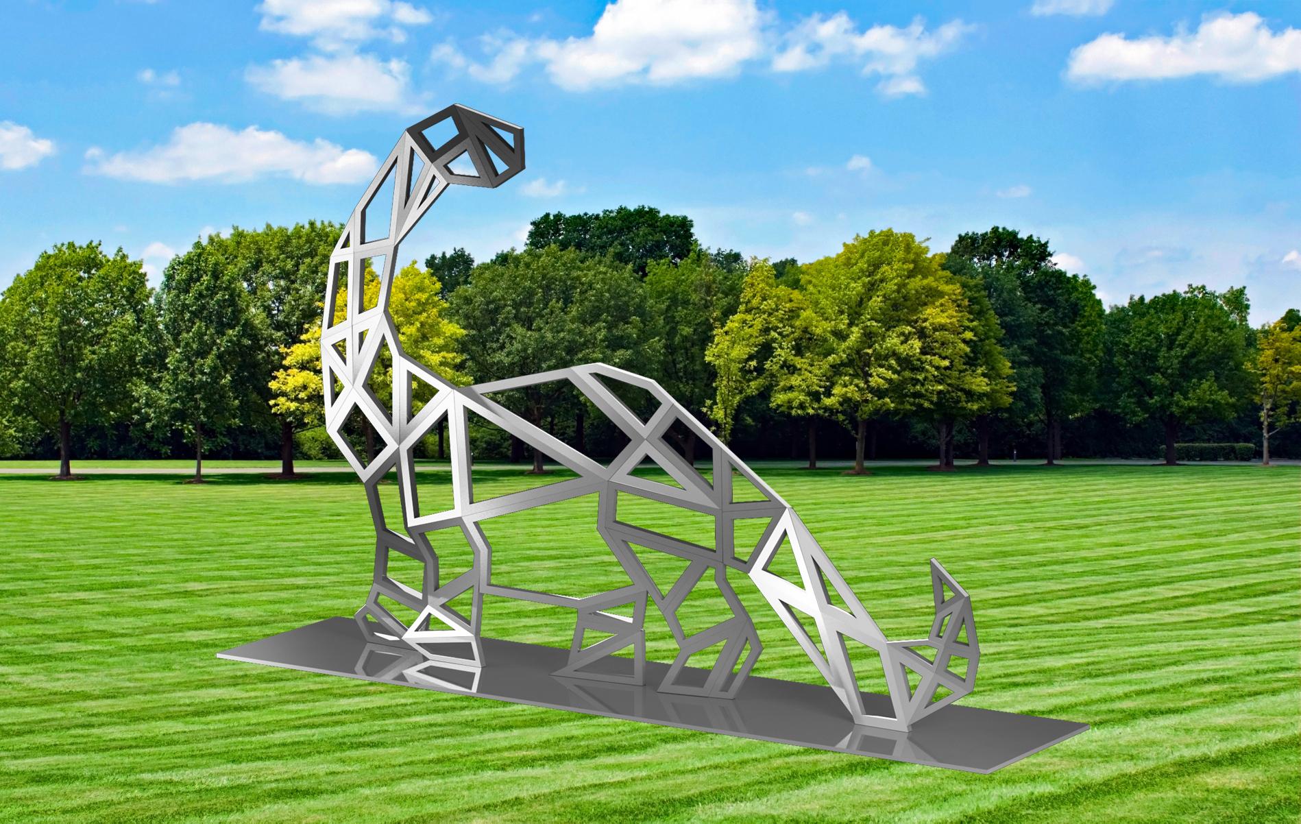 10 Tall Modern Brontosaurus Dinosaur Sculpture Huge Outdoor