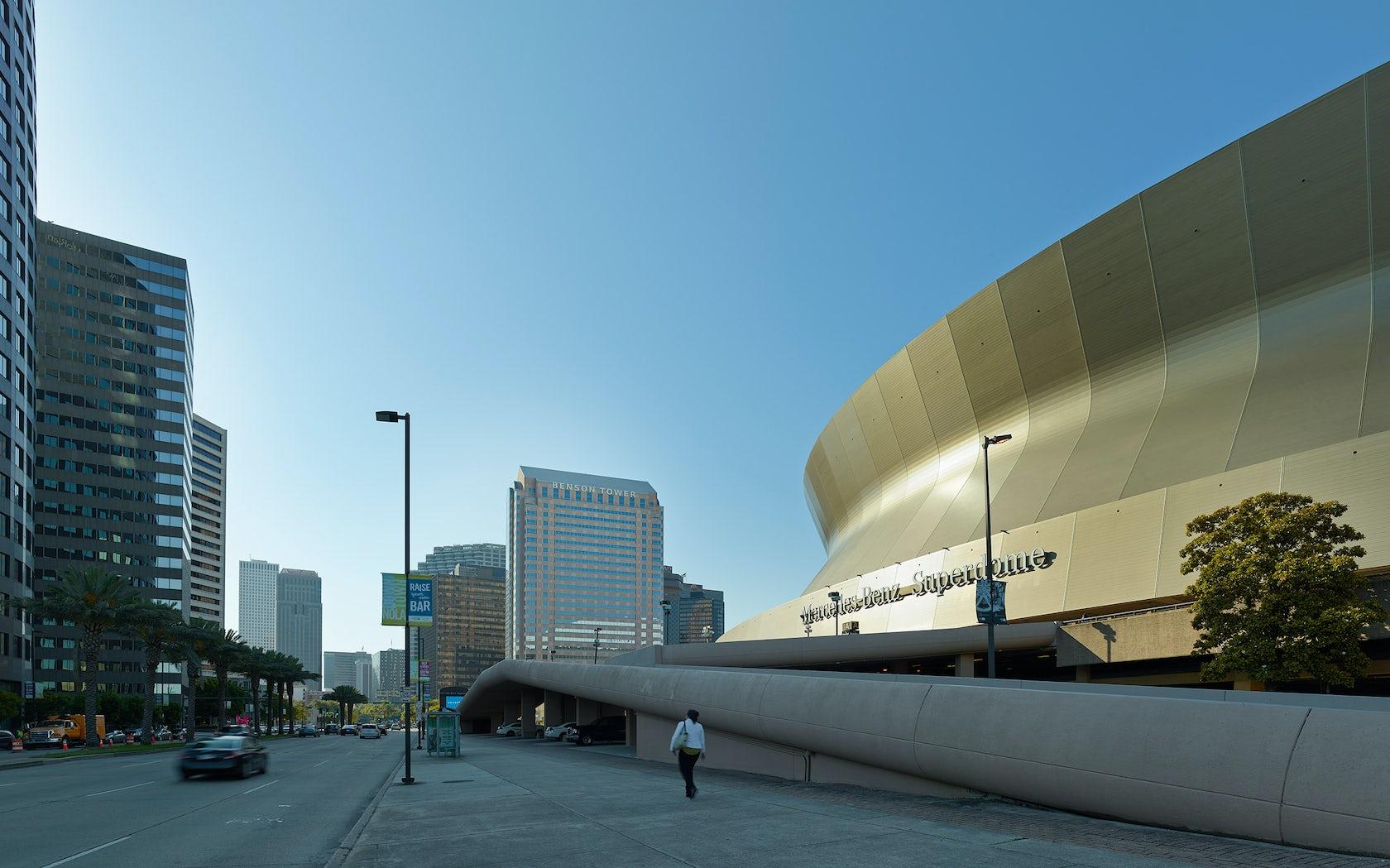 Mercedes benz superdome renovation architizer for Hotels near mercedes benz stadium new orleans