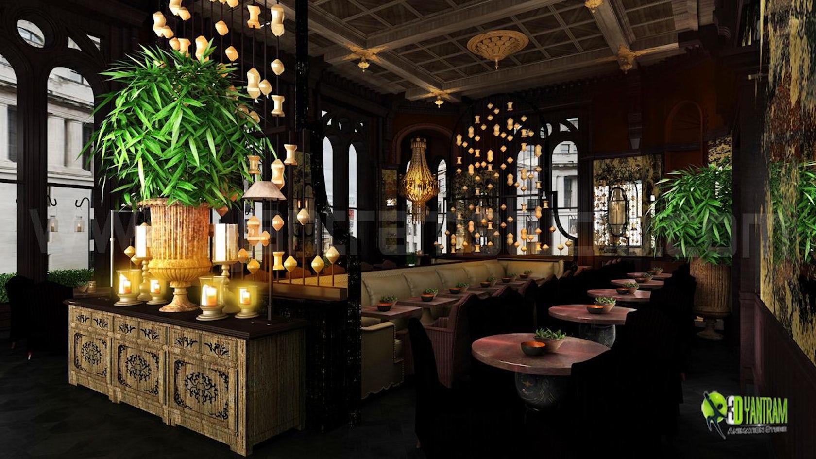 Decorative Classic Restaurant Interior Night View On Architizer
