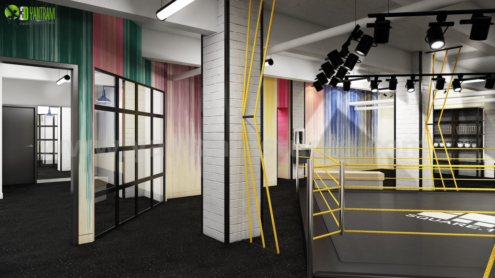 Fitness Motivation Gym Renderings Ideas from 3D Interior Designers of  Yantram - Boston, USA on Architizer