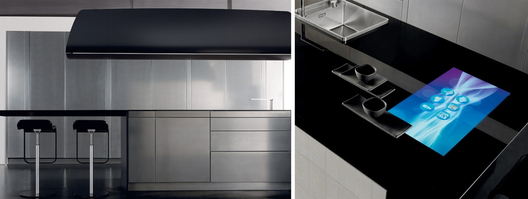 Toncelli's Futuristic Kitchens Are Made From Marble, Carbon Fiber ...