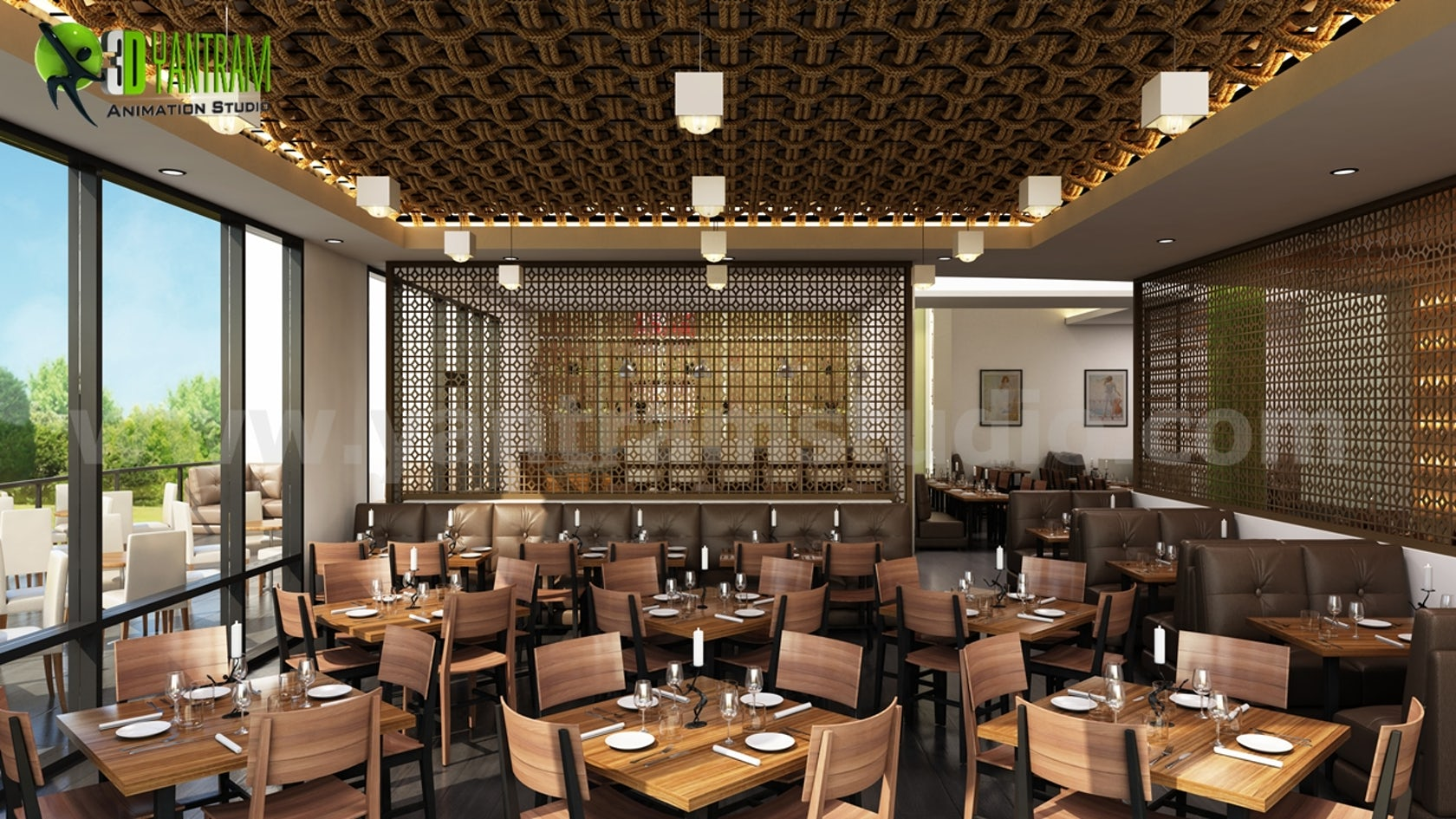 Restaurant Interior Rendering on Architizer