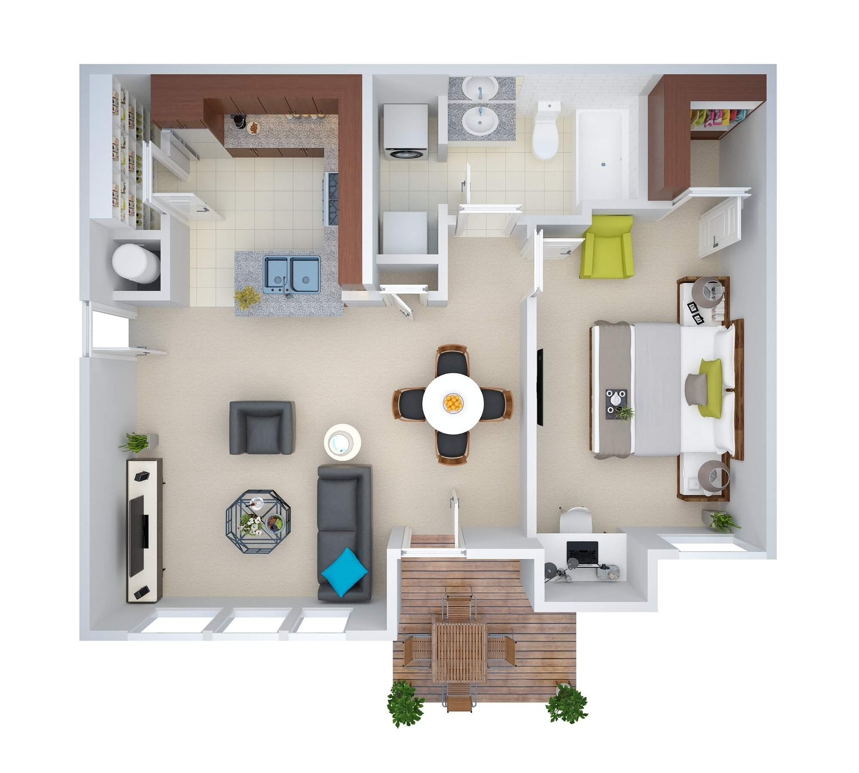 2d floor plan to 3d model services architizer for Turn floor plan into 3d model