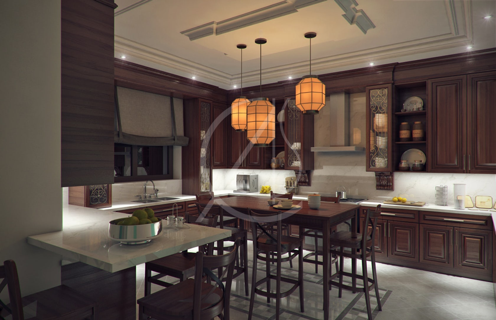 Traditional Interior Design By Ownby: Luxury Kerala House Traditional Interior Design