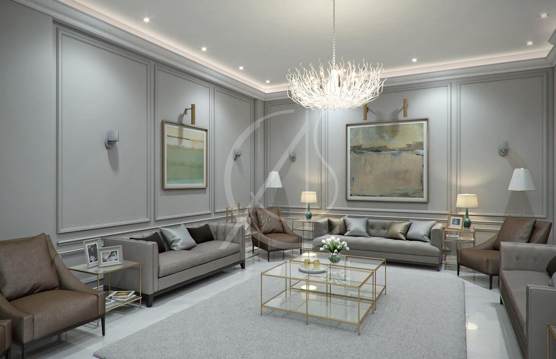 & Modern Classic Villa Interior Design on Architizer