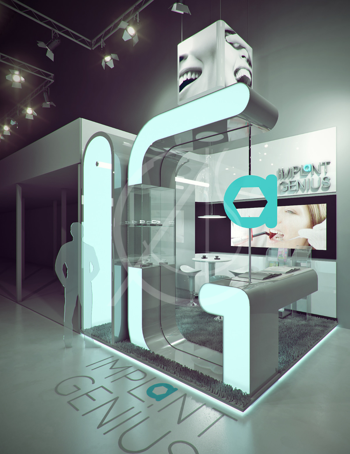 Exhibition Booth Design Concept : Dental exhibition booth design on architizer