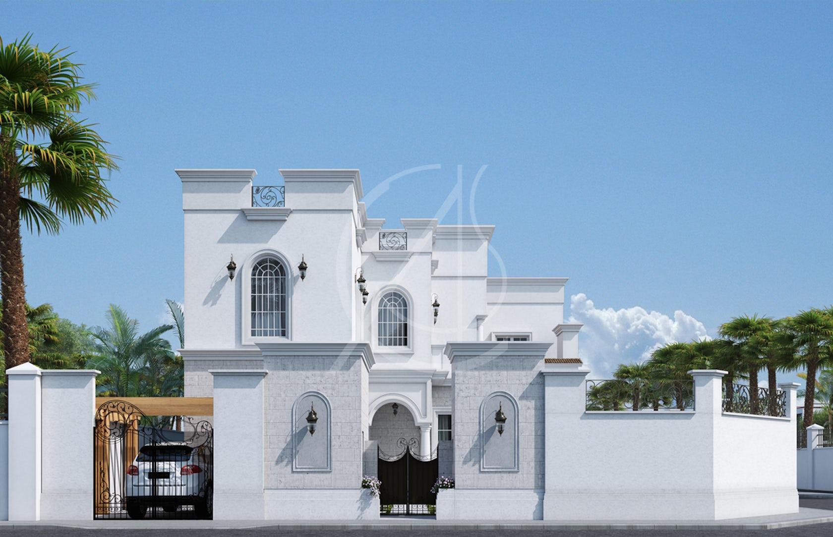 Classic Saudi Arabian Villa Exterior Design on Architizer