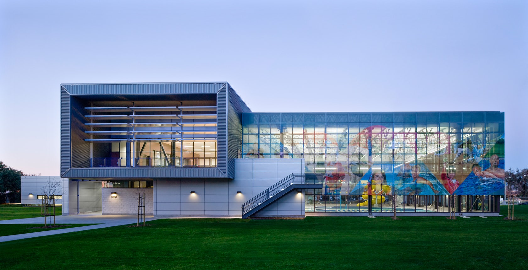 East oakland sport center architizer - Oakland community college interior design ...