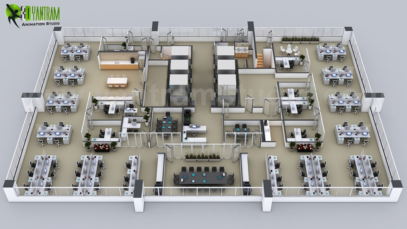 Creative 3d Floor Plans Of The Sets For The Office In