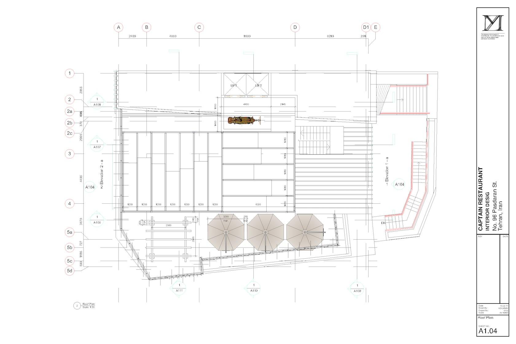 Captain Restaurant On Architizer Schematic
