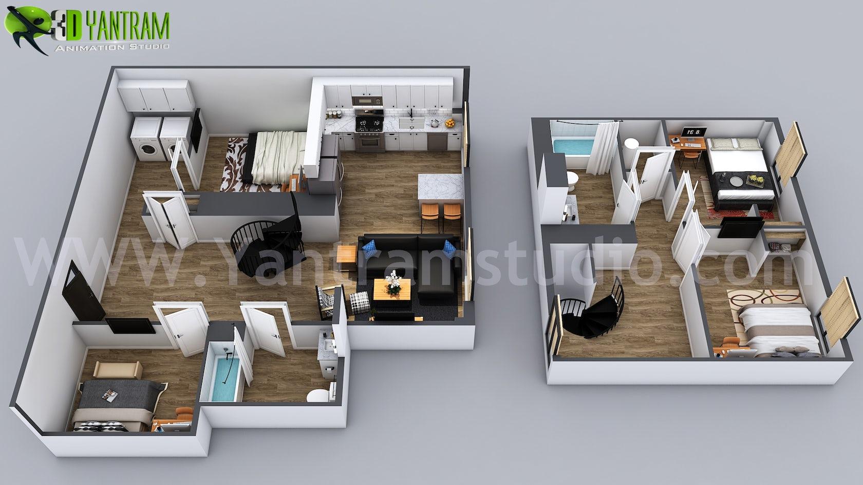 3D Home Floor Plan Designs By Yantram floor plan designer ...