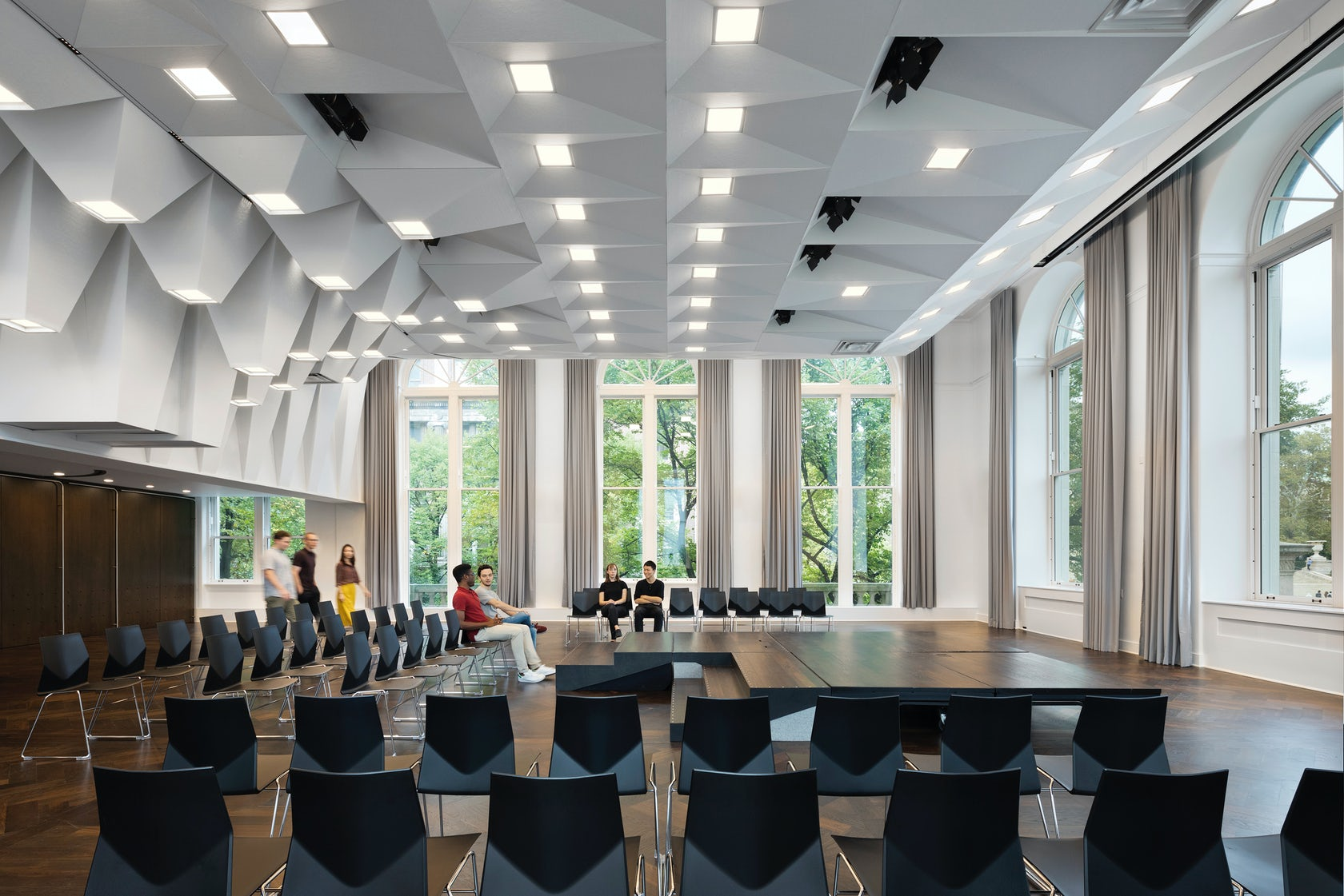 Joseph d jamail lecture hall on architizer
