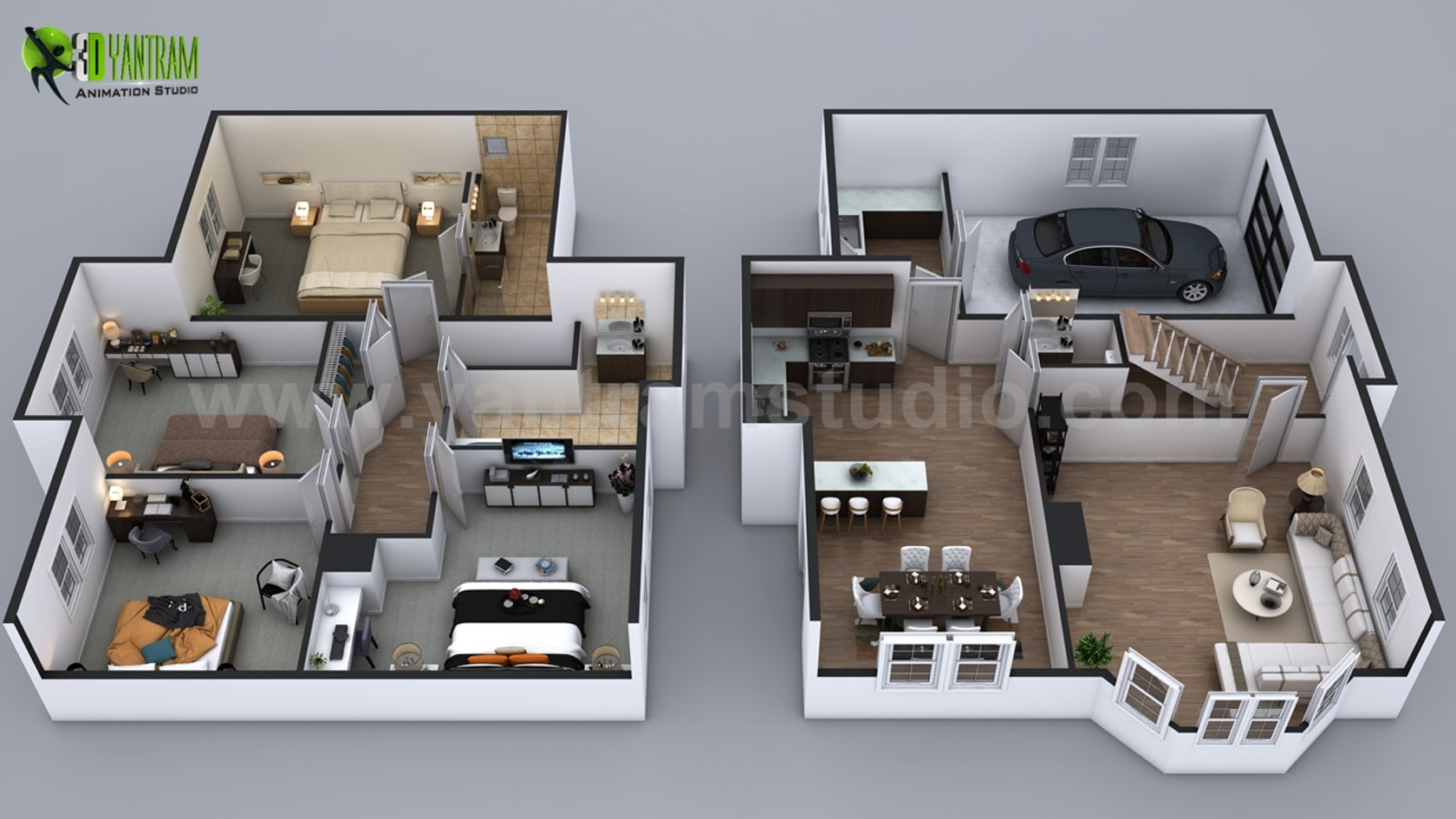 Modern Small House Design With Floor Plan Ideas in Milan, Italy by ...