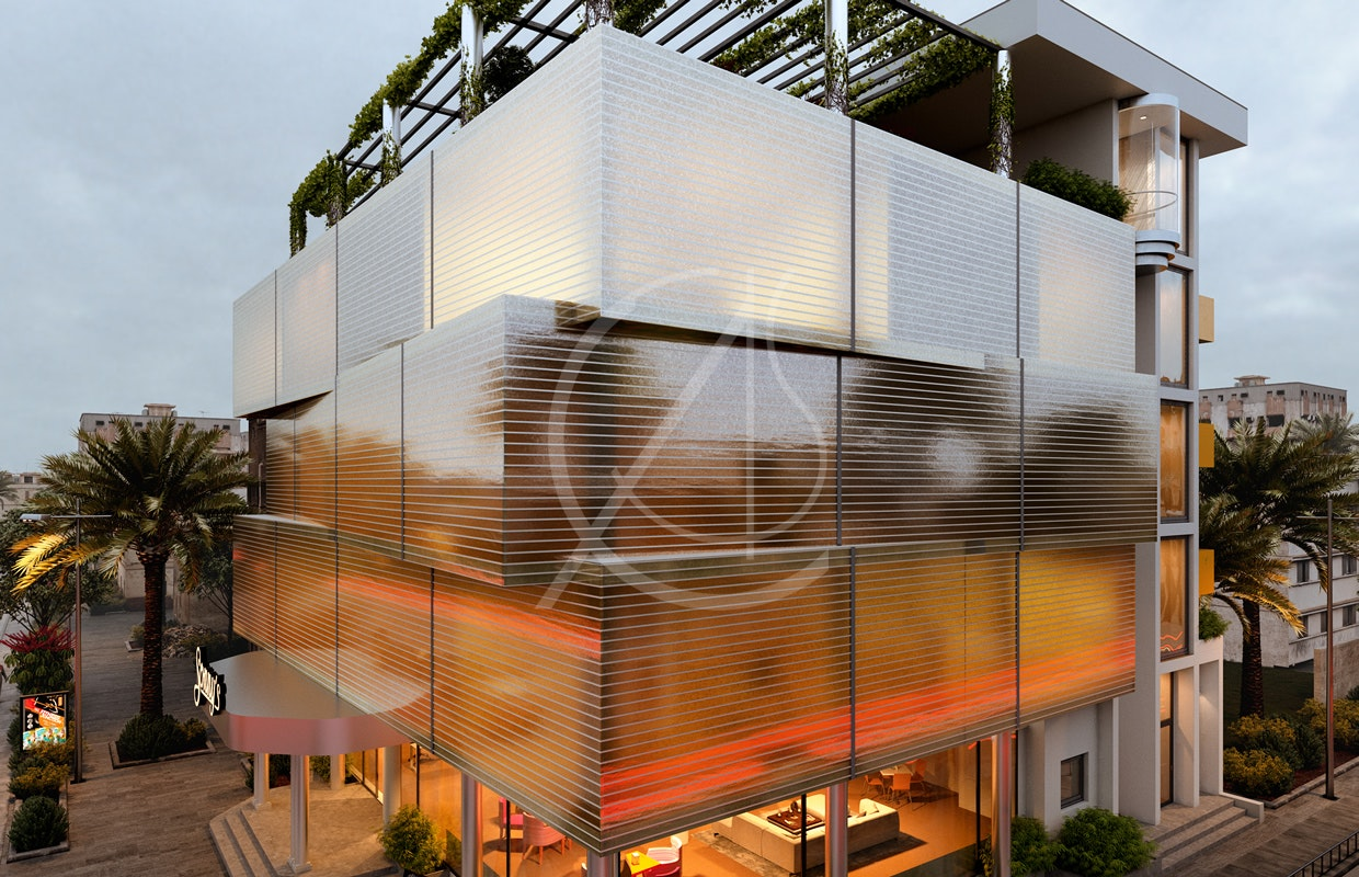Modern Commercial Building Design By Comelite Architecture Structure And Interior Design Architizer