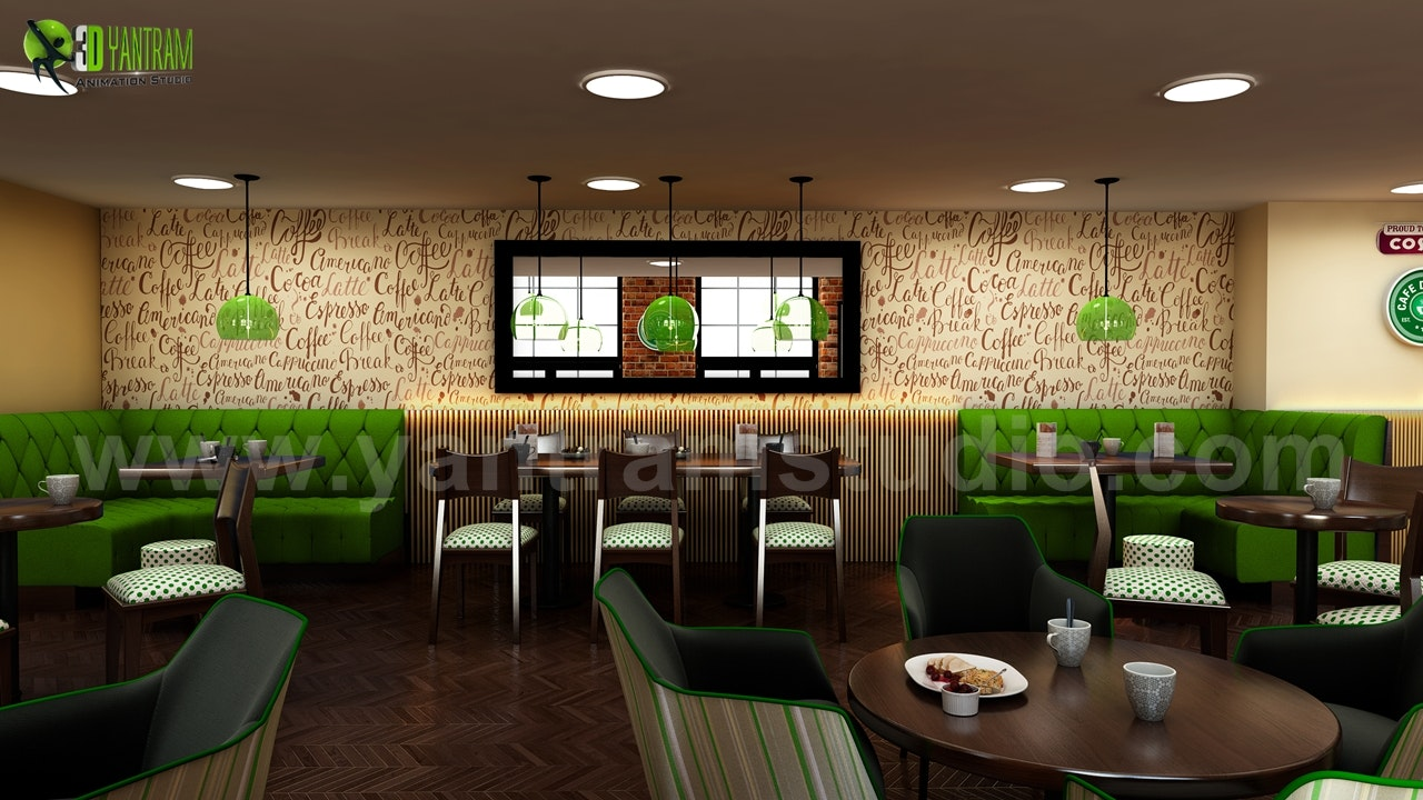 Conceptual 3d Modern Cafe Restaurant Ideas By Interior Design Firms Architizer