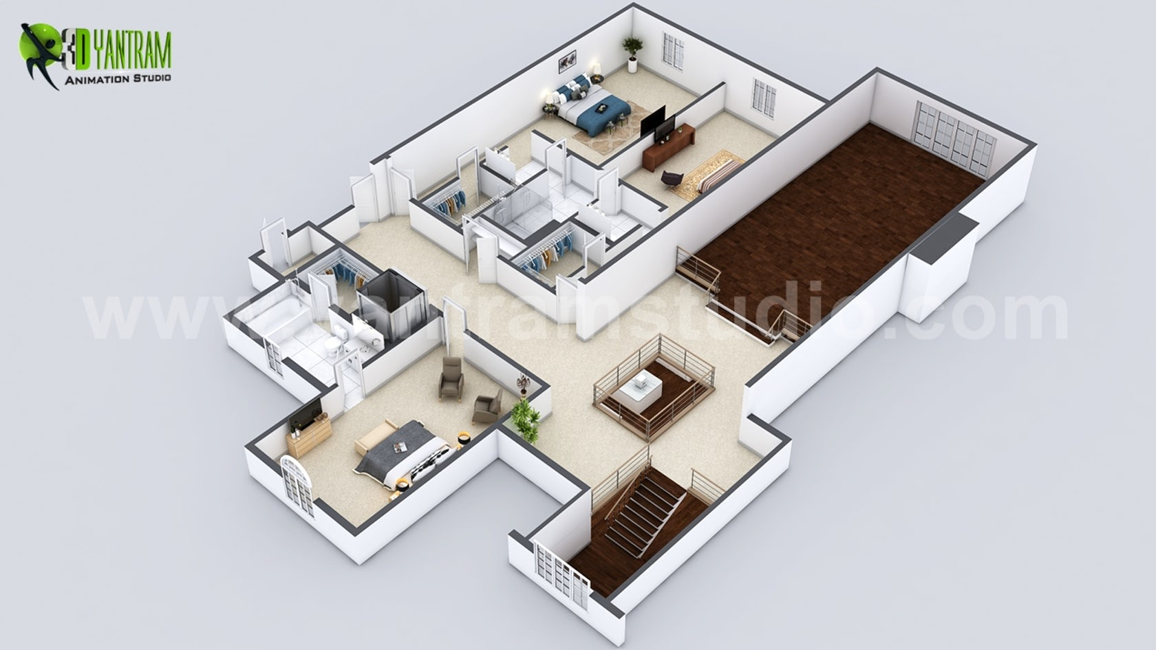 Beautiful Modern 3D Home Virtual Floor Plan Developed by ...