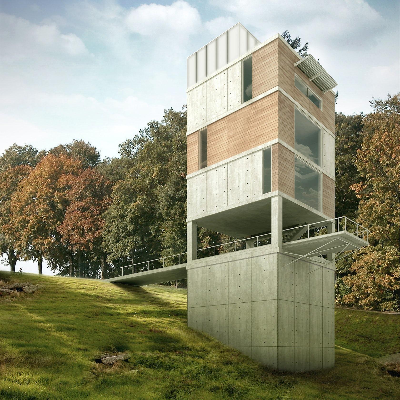 Vertical House Smugglers Notch Architizer