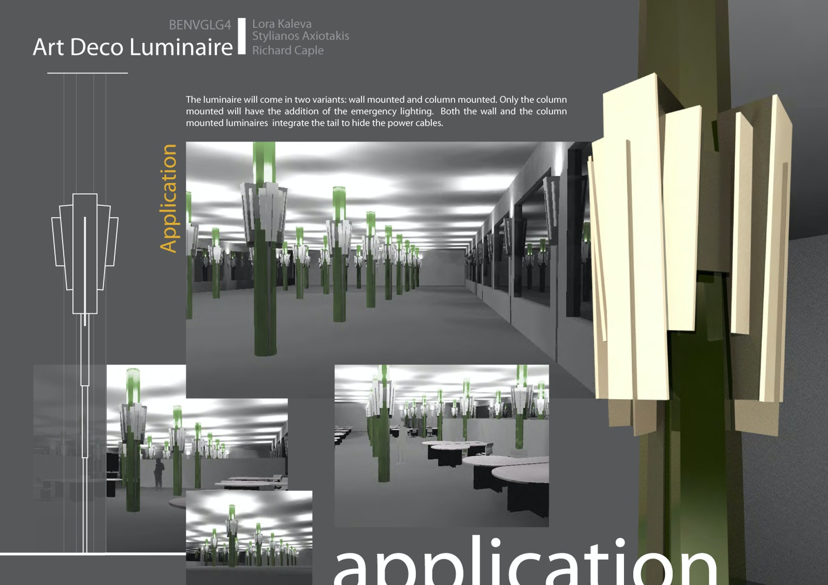 Art deco luminaire design architizer - Luminaire art deco plafonnier ...
