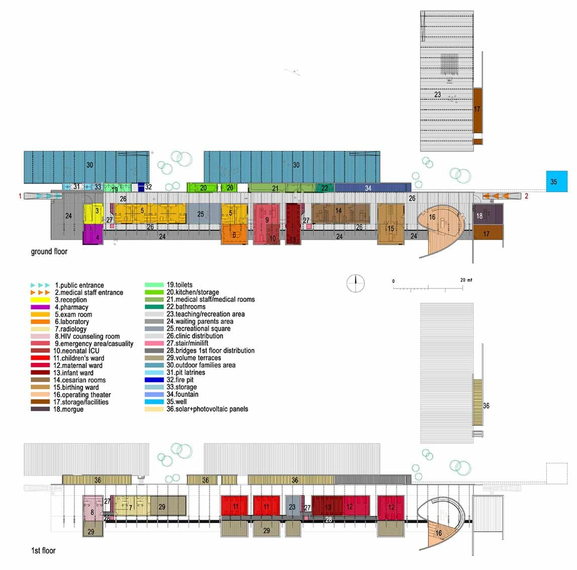 Teaching Kitchen Floor Plan design for the children -pediatric clinic prototype on architizer