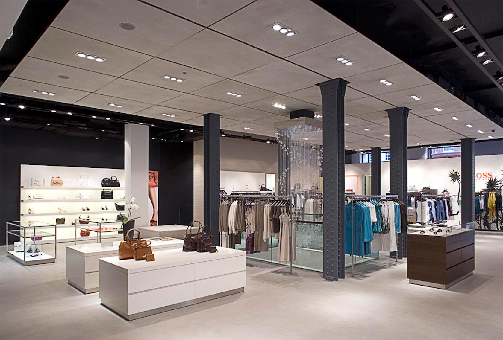 Hugo boss london flagship store architizer for Interior design agency edinburgh