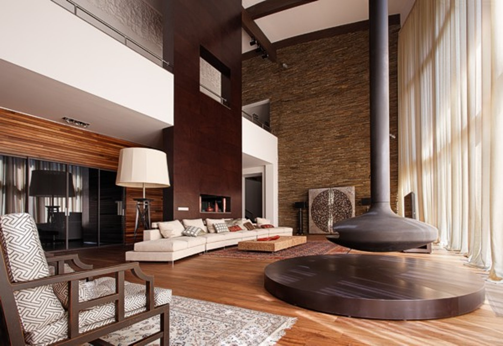 Suburban residence moscow architizer - Salon brun et beige ...