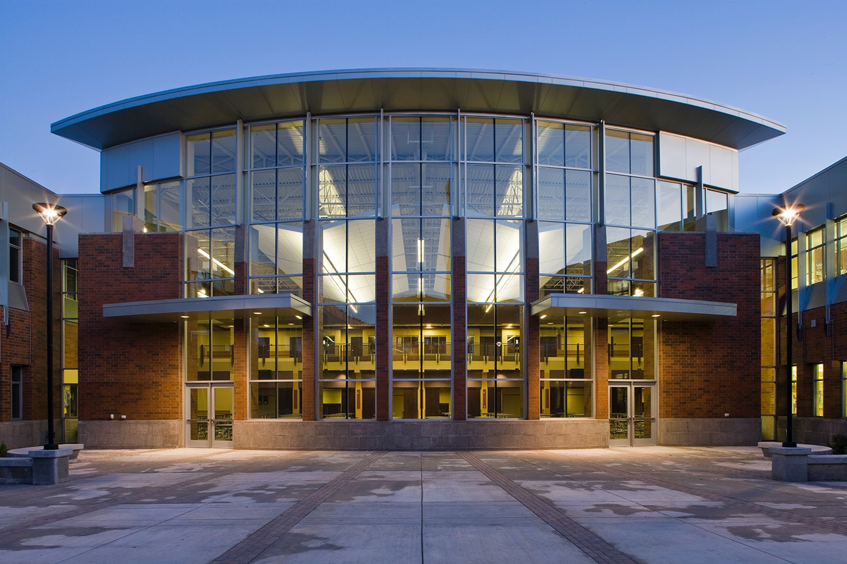 Rogers high school renovation addition architizer for Rogers high school swimming pool