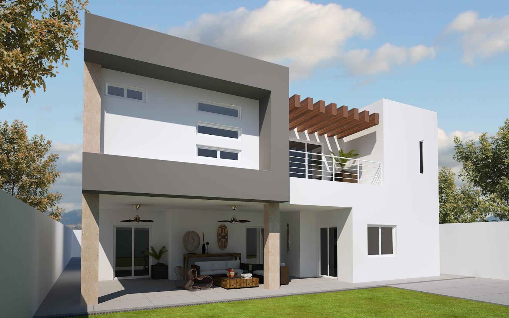 remodelacion fachada posterior casa alvarado architizer