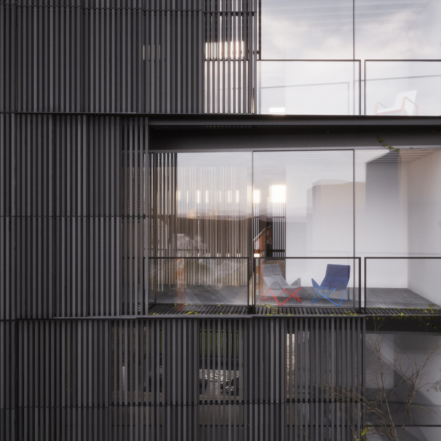 Wood And Glass Elevation : Filter house architizer
