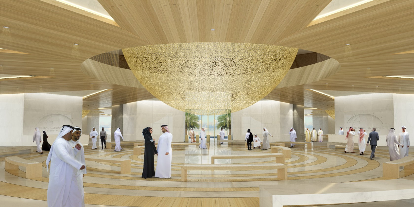 Uae Federal National Council New Parliament Building Complex Architizer