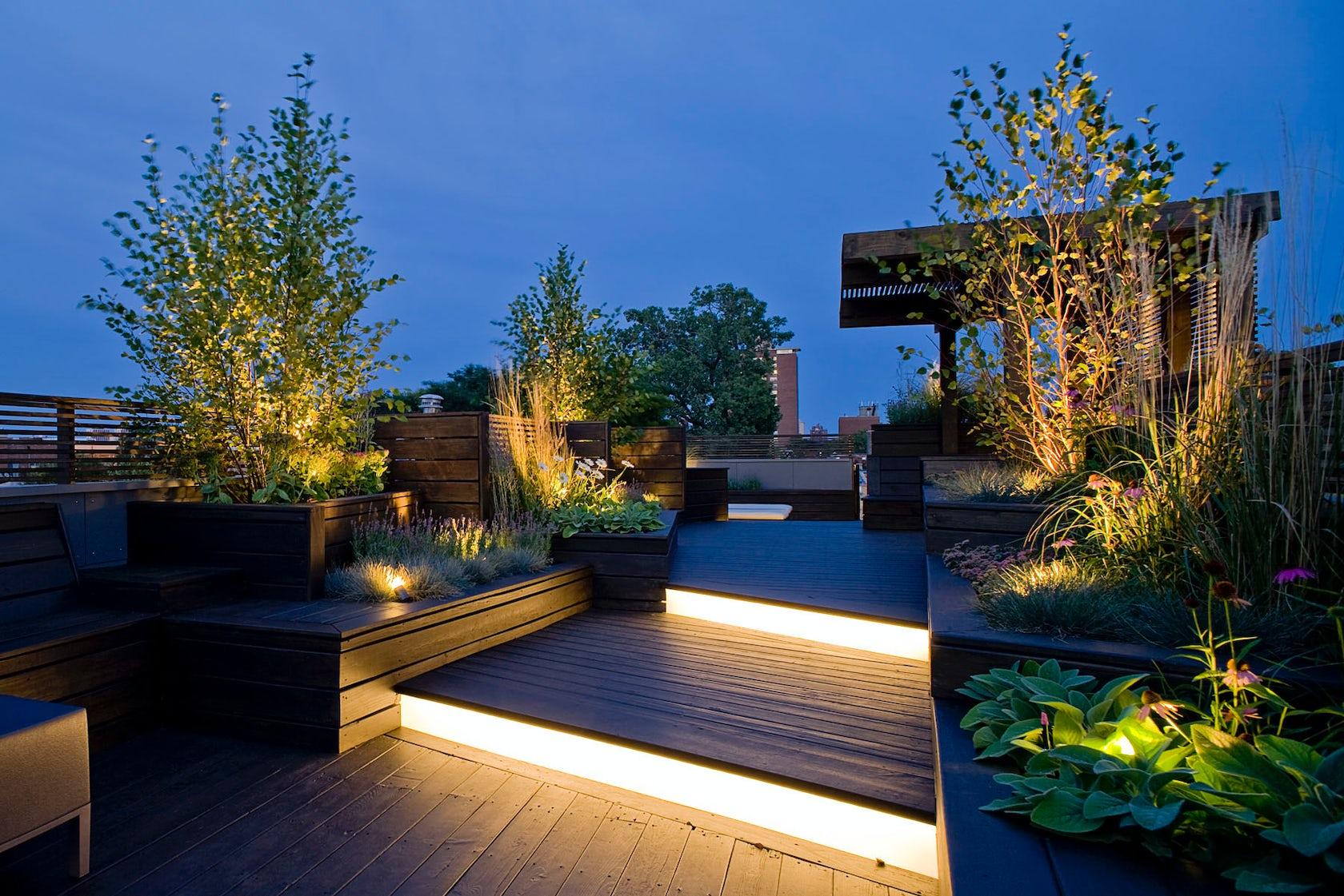 architizer etiquetas jardineros moderno iluminacin exterior reformar terraza terraza y jardn hacer jardineras madera - Iluminacion Terrazas