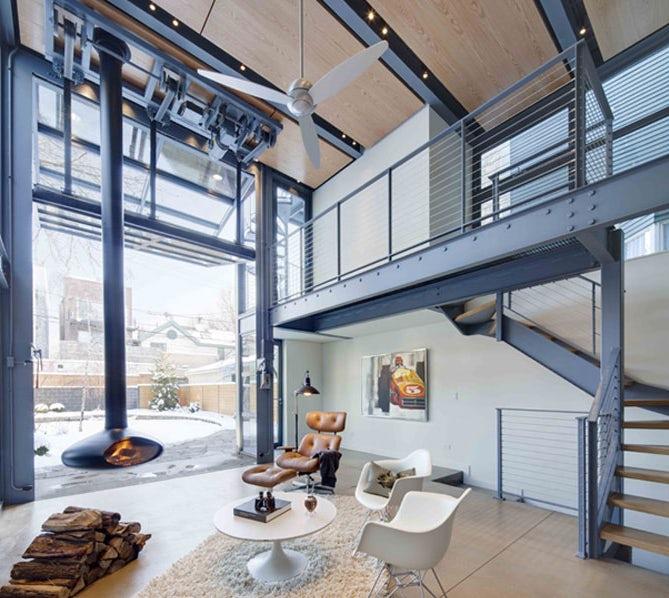 hi tech loft wohnung loft dethier architecture m246bel