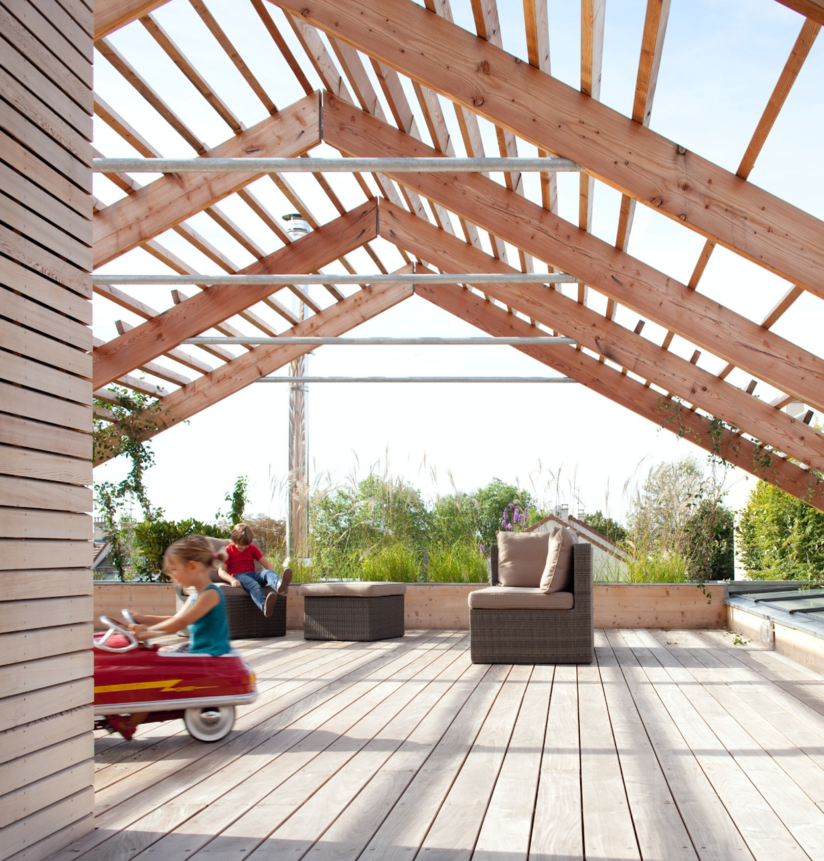 Eco sustainable antony house architizer for Sustainable decking
