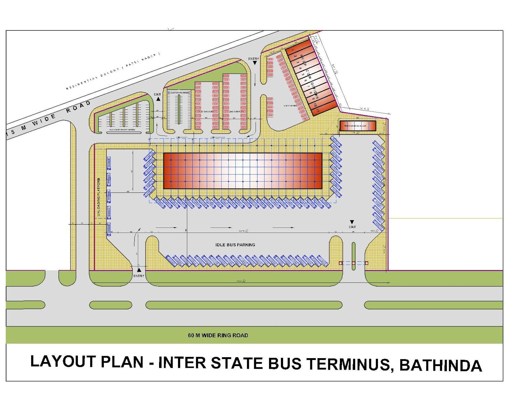 Inter State Bus Terminus Bathinda Punjab Architizer