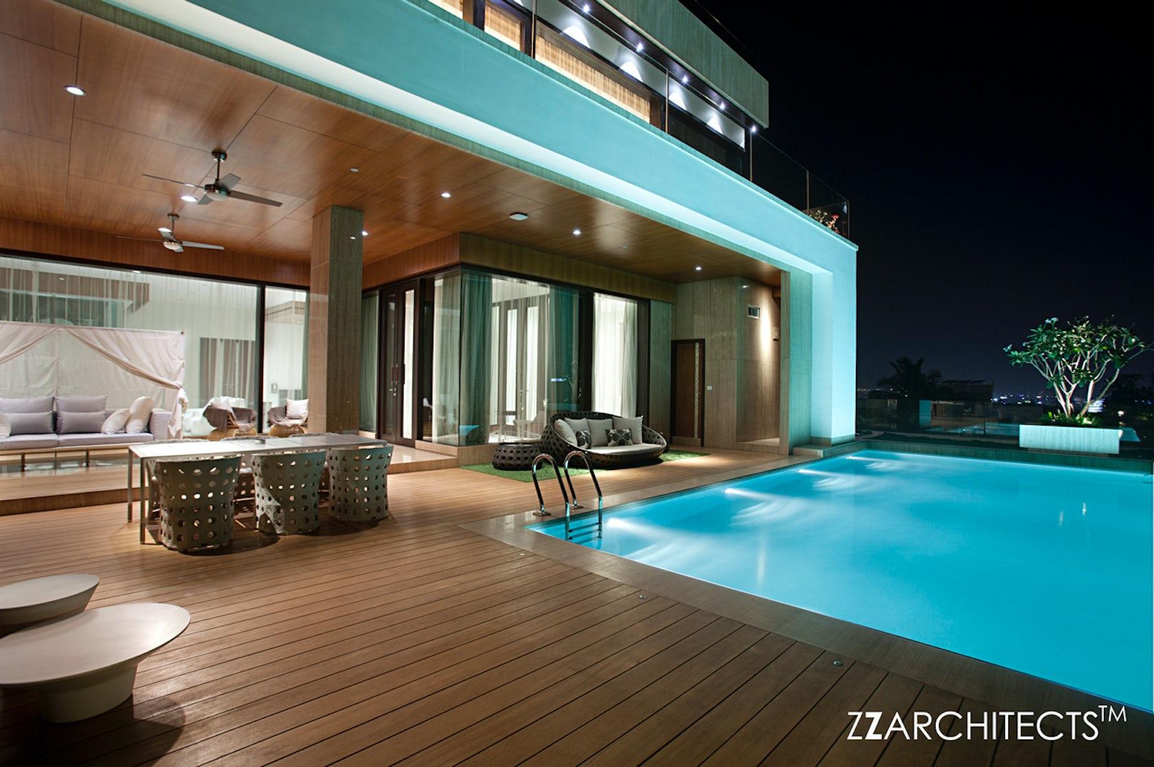 Cm ramesh villa hyderabad architizer - Jubilee hills international swimming pool ...