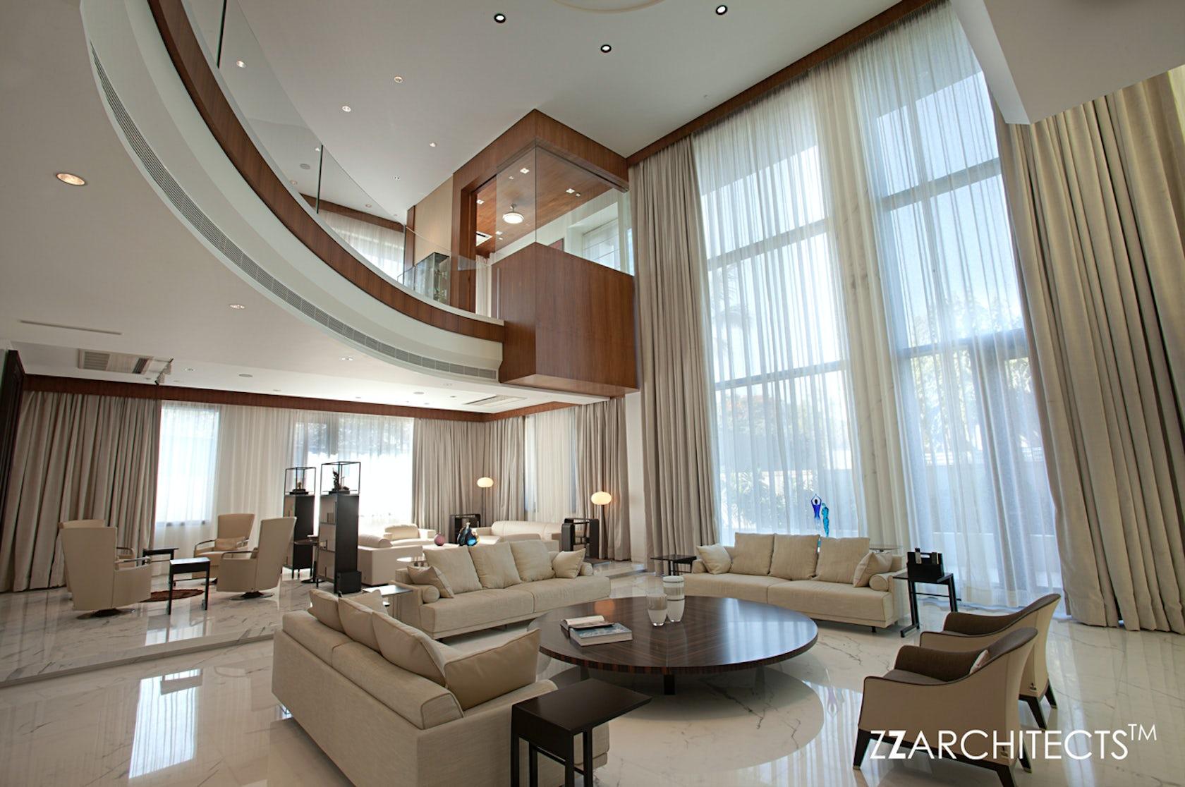 Cm ramesh villa hyderabad architizer for Villa interior design in hyderabad