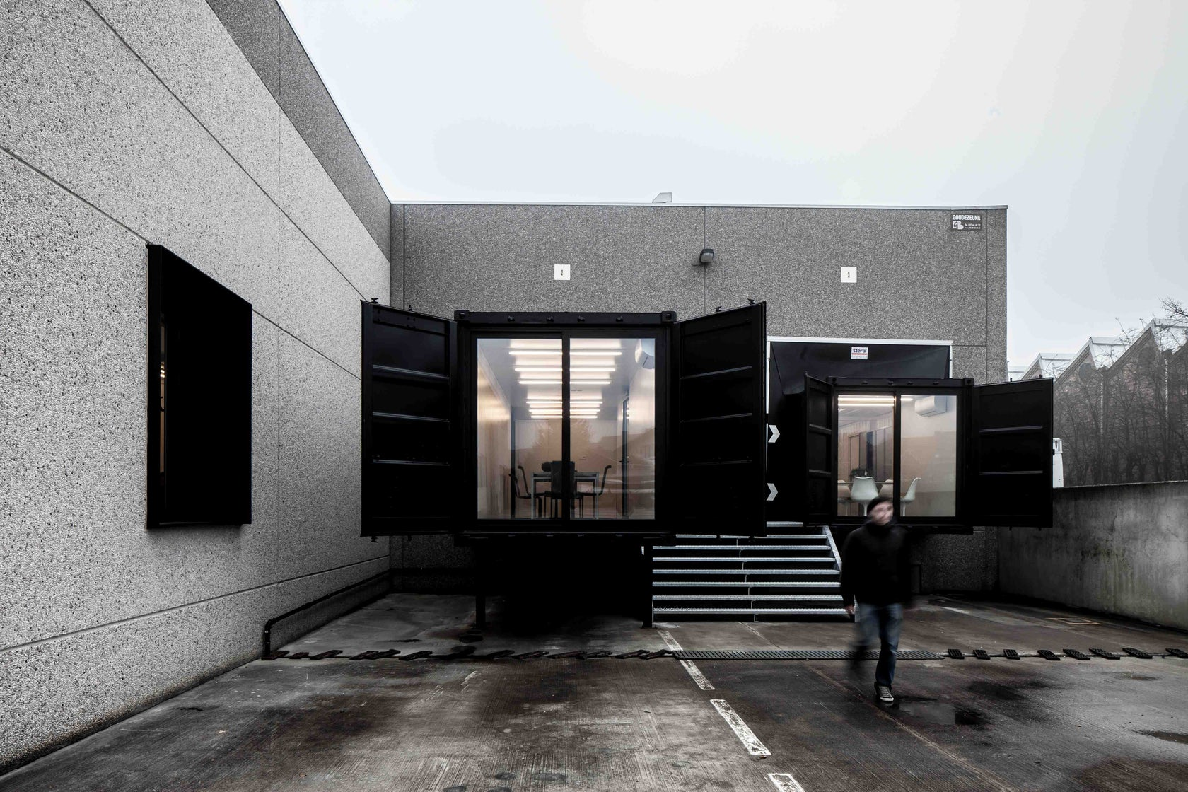 Office with Shipping Containers