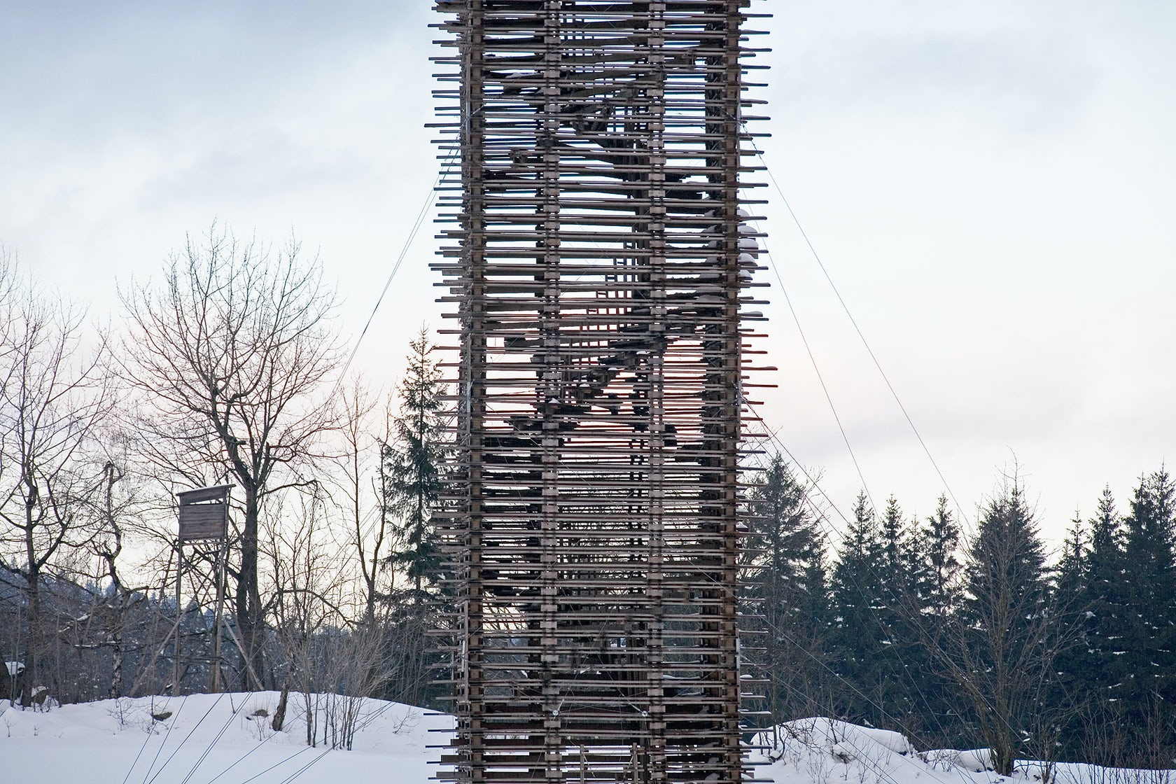Scholzberg tower portrait orientated timberyard with for Stair tower